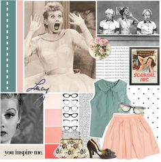 """""""1950s ;; """" by kristalovesallstarweekend ❤ liked on Polyvore"""