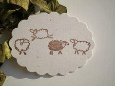 Slightly Sheepish Olive Wood Stamp by ahueofduckeggblue on Etsy
