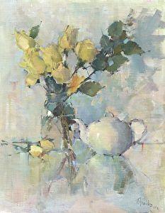 Morning Tea by Nancy Franke Oil ~ 30 x 24