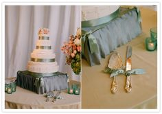 cute cake stand! I like the idea of coordinating the fabric to the rest of your decor