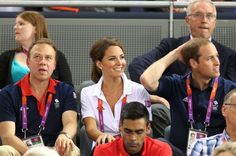 Duchess Kate could have been mistaken for an Olympian as she wore Adidas polo shirt and tracksuit bottoms at the cycling track tonight.    On another busy day for the young royals, she and husband William dashed from the tennis at Wimbledon to the velodrome at the Olympic Park – pausing only for a change of clothes