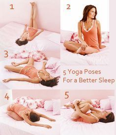 5 Yoga Poses for a Better Sleep: http://www.fitnessmagazine.com/workout/yoga/poses/yoga-routine-before-sleep/?page=1