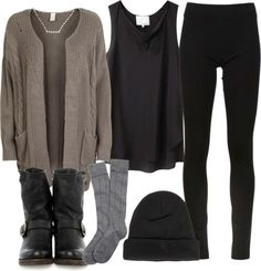 Dark, lazy outfit