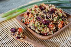 Lemon Cranberry Quinoa Salad.   Tried this at whole foods the other day and was pretty good.