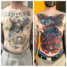 Before/after coverup done by Tom Johnson at Big Cat Tattoo ATL. The before shall remain nameless for obvious reasons. Big Cat Tattoo, Professional Tattoo, Cover Tattoo, Irezumi, Big Cats, Toms, Cover Up, Tattoos, Drawings