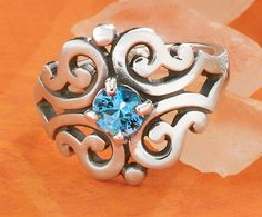 Summer Collection - Spanish Lace Ring with Blue Topaz #JamesAvery