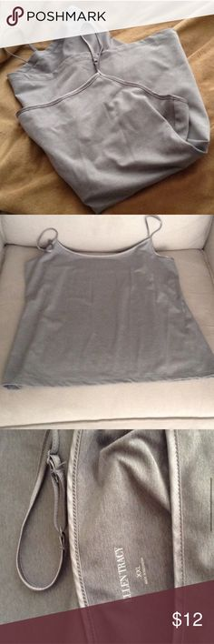 Gray Cami Brand New Brand is Ellen Tracy. XXL is the size. No snags or holes. Adjustable straps great for a professional undershirt either under a blazer or a sweater. Please feel free to make an offer- I'm not firm on my prices. Ellen Tracy Tops Camisoles