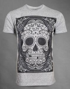 Cråneo  - Grey unisex semi-fitted t-shirt - Soft handle print - 100% super-soft ringspun cotton £24.95   http://www.deadmouseofficial.com/spring-summer-2013/unisex/craneo.html