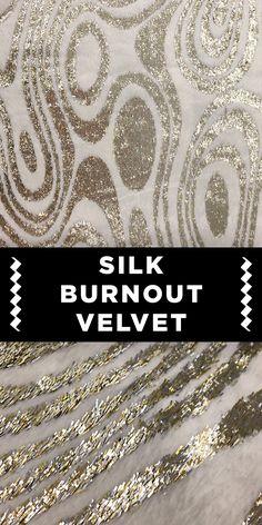 Silver Swirl Silk Lurex Burnout Velvet