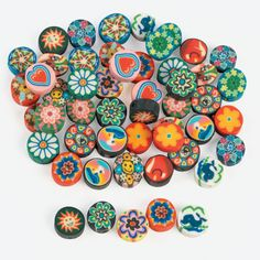 Polymer Clay Disk Beads - OrientalTrading.com