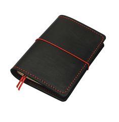 "FLEXI(""M"")Premium- genuine black cow-leather notebook; Leather Notebook, Leather Journal, Black Cow, Personal Organizer, Notebook Covers, Leather Cover, Cow Leather, Cool Suits, Zip Around Wallet"