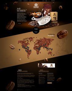 Corporate Coffee Web Design by Seo Design, via Behance