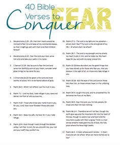 40 Bible Verses to Conquer Fear -- a FREE download!