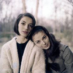 Pier Angeli with twin sister Marisa Pavan.