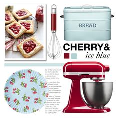 """cherry ice kitchen set"" by lemon-and-lace ❤ liked on Polyvore featuring interior, interiors, interior design, home, home decor, interior decorating, KitchenAid, Dot & Bo and kitchen"