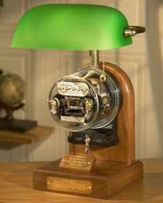 """The Manhatan"" 1920 Classic Electric Meter Lamp Vintage Industrial Furniture, Industrial Interiors, Industrial Closet, Industrial Shop, Industrial Bookshelf, Industrial Windows, Industrial Restaurant, Kitchen Industrial, Industrial Office"
