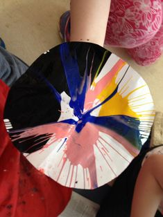 Spin Art ! Create a gorgeous colourful painting using some paint, paper and a salad spinner !!! Always a unique result . . . #spinart #thecraftcorner #straffanartclass Salad Spinner, Craft Corner, Colorful Paintings, Kids House, Art Tutorials, Spinning, Creativity, Arts And Crafts, Create