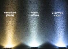 Know your white lighting to achieve the desired atmosphere in your outdoor lighting plans.