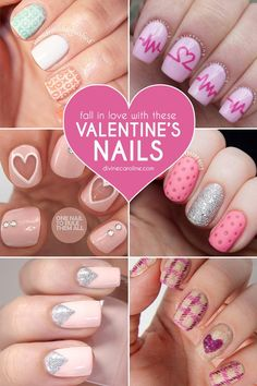 When February 14 rolls around, so do chocolate, roses, and sweet treats galore. Sounds like an Instagram opportunity. Be sure your Valentine's Day nails are ready for their close-up by re-creating one of these darling nail art looks. We've rounded up 28 of the coolest designs from nail bloggers to help you celebrate the holiday. The only thing harder than choosing one is deciding which filter you'll show them off with. Happy hashtagging!