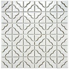 kitchen backsplash option? $137/10sf SomerTile Castle White Porcelain Mosaic Tile (Pack of 10)