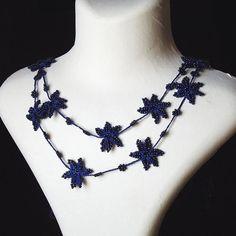 Turkish OYA Lace - Lariat necklace - Star