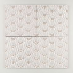 Sakura - Winter Mountain Neutral Motif | Taking a cue from the snow-capped mountains of Japan, Winter Mountain features organic curves in a serene range of natural hues. | $40/Piece | 8x8 size