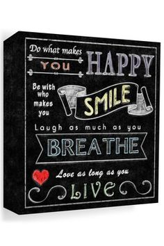 Do what Makes You happy Colorful Chalk Canvas Wall Art