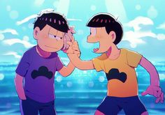 """You can hear the ocean Ichimatsu-niisan!"" ""Mhm."""