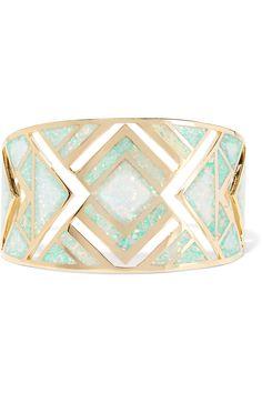 Noir Jewelry gold-tone opal cuff