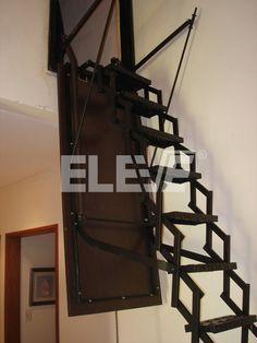 Escalera Trampa Vertical, Tapa Abatible para Escalera Tijera Extensible
