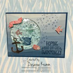 stampin up Seaside Shore gel card  http://desereesdoodles.typepad.com/my-blog/2016/07/how-about-a-little-hair-gel.html