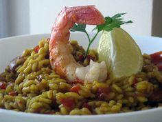 Un suculento plato de arroz: risotto de gambones