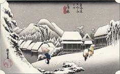 歌川広重「蒲原夜之雪」