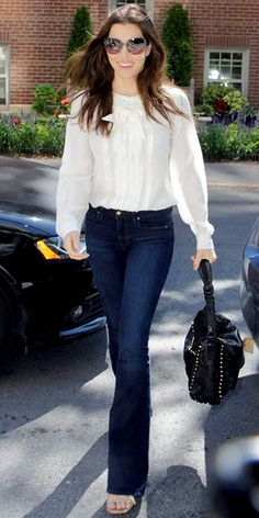 Look of the Day - September 14, 2011 - Jessica Biel in Paige Denim from #InStyle