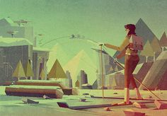 Beautiful Modernist Illustrations of Matthew Lyons