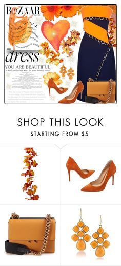 """""""Two-Tone Dress"""" by jeneric2015 ❤ liked on Polyvore featuring Thierry Mugler, Ÿù, Gianvito Rossi, Marni, 1st & Gorgeous by Carolee and twotonedress"""