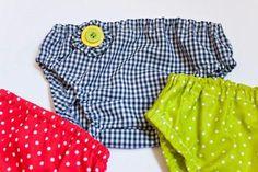 Tutorial: Cómo hacer una braguita cubrepañal para bebé, con patrón gratis