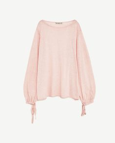 Image 8 of SWEATER WITH BALLOON SLEEVES from Zara