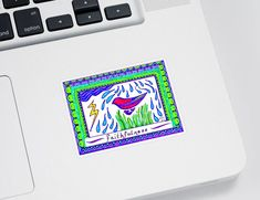 """Accessorize your life with unique stickers from an independent artist! Our vinyl stickers are available in four different sizes and are kiss-cut to create a 1/8"""" border around the perimeter of the design. Each sticker has an adhesive backing with plenty of stickiness to cling to any smooth surface while still being easy to remove. Face Health, Thing 1, Marker Pen, Sticker Shop, Colour Images, Basic Colors, Color Show, Galleries, Colorful Backgrounds"""