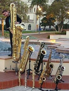familia de saxofones