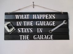 handmade sign Fathers Day Man sign Garage Sign by FunWithWreaths, $12.00