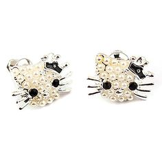 Alliage style doux de chat de Kitty Boucles d'oreilles (couleurs assorties) – EUR € 5.51