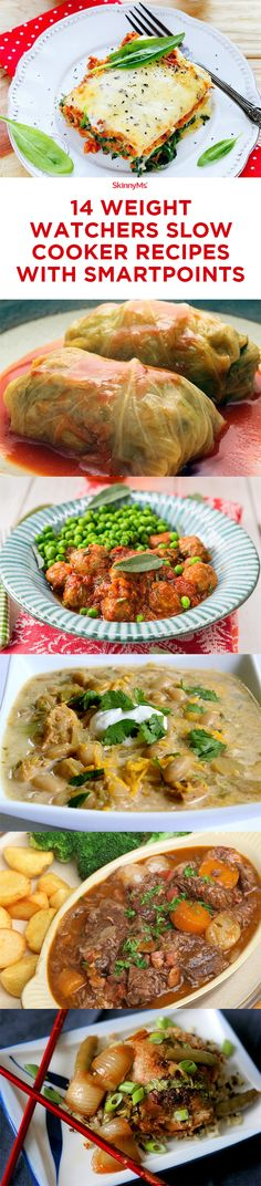 Try these 14 Weight Watchers Slow Cooker Recipes with SmartPoints! #weightwatchers #weightloss #slowcooker