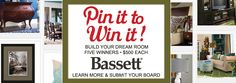 Pin it to Win it Basset furniture contest.