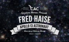 CAC Speakers Bureau presents Fred Haise THIS WEDNESDAY 4/17/2013!!!!
