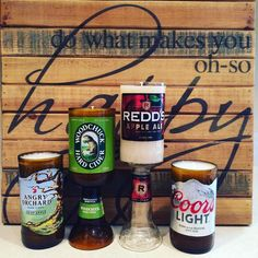 Finished and mailed out these orders this morning! #shopetsy #etsysellersofinstagram #beer #candles #handmade #scented #angryorchard #woodchuckhardcider #redds #coorslight