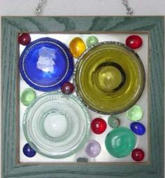 dalle d verre bottoms up upcylcing stain glass feel, crafts, repurposing upcycling, cut off bottle bottoms n used picture frames marbles nuggets etc Dalle D Verre Bottoms Up Upcylcing Stain Glass Feel