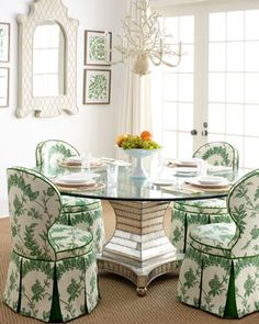 45 Splendid Green Dining Room Design Ideas To Try Asap - One can find more in the dining room beyond the way the dining furniture is set. This room is ideally a whole package of color choices, layout, and ot. Dining Room Design, Dining Room Chairs, Dining Room Furniture, Home Furniture, Dining Rooms, Dining Tables, Dining Set, Dining Room Inspiration, Elegant Dining