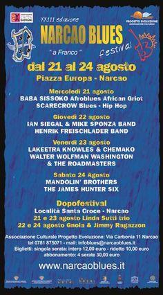 23° EDIZIONE NARCAO BLUES – NARCAO – 21- 24 AGOSTO 2013