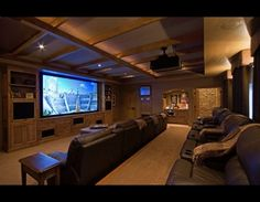 Home theater. - Repinned by Surviving #Mesothelioma http://www.survivingmesothelioma.com